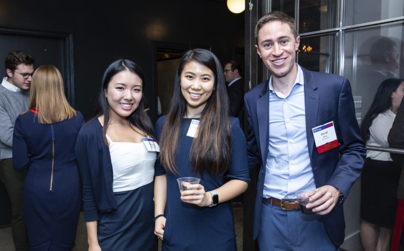 Young Alumni friends at NYC event