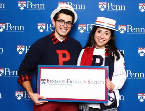 Young alumni at Benjamin Franklin Society event